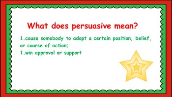 Christmas Persuasive No Prep Letter Writing