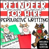 Christmas Persuasive Writing Craftivity - Reindeer for Hire