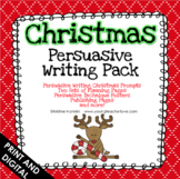 Christmas Writing Activities - Persuasive Prompts - Opinio