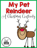 Christmas Pet Reindeer Craft and Writing Page
