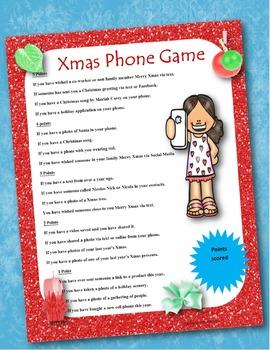 Christmas Phone Game