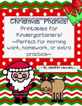 Christmas Phonics Work for Kindergarten