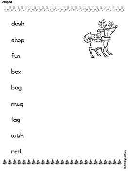 Christmas Phonics by Syllable Type