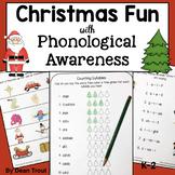 Christmas Phonological Awareness Activities | Speech Therapy