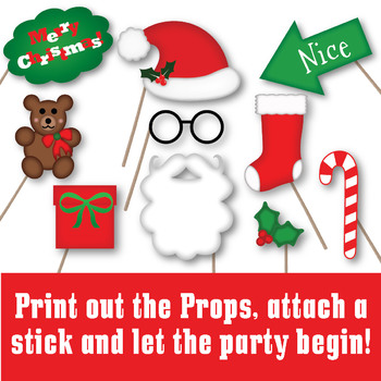 christmas photo booth props and decorations over 60 printable props