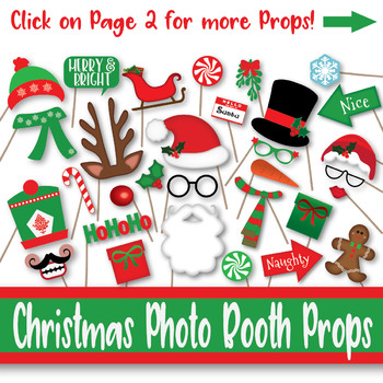 picture about Printable Photo Props known as Xmas Image Booth Props and Decorations - Previously mentioned 60 Printable Props