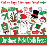 Christmas Photo Booth Props and Decorations - Printable