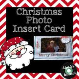 Christmas Photo Insert Card (FREEBIE)