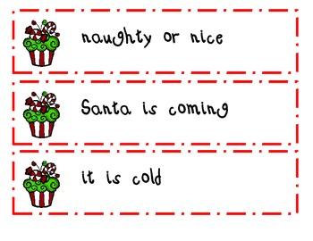 Winter Fluency Phrases