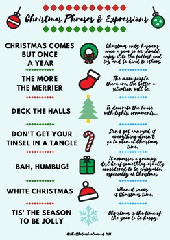 Christmas Expressions.Christmas Phrases And Expressions