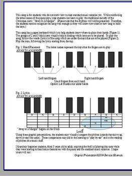 Christmas Piano Song:  Away In A Manger for the  Non-Music Reader