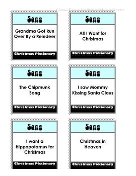 Christmas Pictionary.Christmas Pictionary Family Game