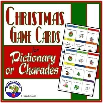 Christmas Pictionary.Christmas Charades Or Pictionary Game