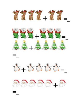 Christmas Picture Addition & Subtraction
