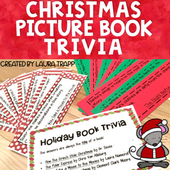 Christmas Picture Book Trivia Game
