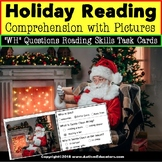 """Christmas Picture Comprehension Task Cards """"Task Box Filler"""" Reading Strategies"""