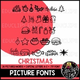 Christmas Picture Font {Educlips Clipart}