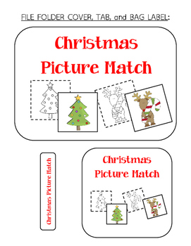 Christmas Picture Match File Folder Activity