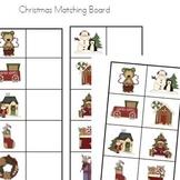 Christmas Picture Matching Board - Preschool Kindergarten