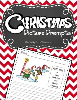 Christmas Picture Prompts (BW & Color)
