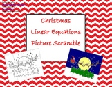 Christmas Picture Scramble - Linear Equations