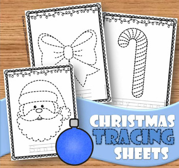 Christmas Picture Tracing Sheets