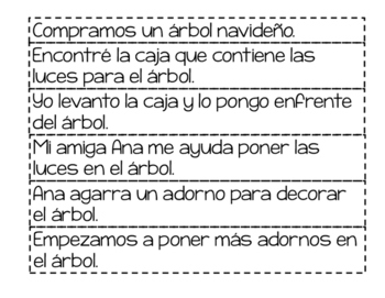 Christmas Picture and Sentence Match in English and Spanish