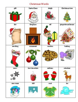 Christmas Picture word list