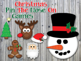 Christmas Pin The Nose On Games - Printable Christmas Party Game