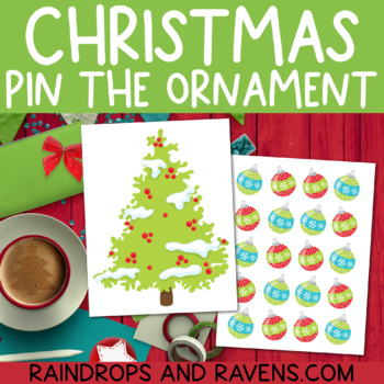 Christmas Pin the Ornament on the Tree