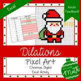 Christmas Pixel Art   Dilations   Digital Geometry   Instant Feedback