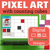 Christmas Pixel Art with Counting Cubes