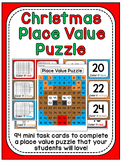 Christmas Math Center Place Value 100 Chart Puzzle