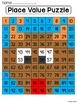 Christmas Math Center Place Value 100 Chart Puzzle