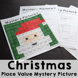 Christmas Place Value 100s Chart Mystery Picture Activity Freebie