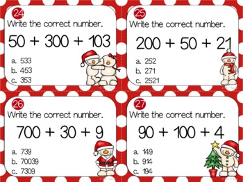 Christmas Place Value Games