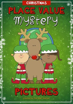 Christmas Place Value Mystery Pictures