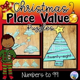 Christmas Place Value Puzzles Numbers to 100