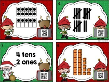 Christmas Place Value - Solve the Room
