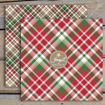 Christmas Plaids Digital Papers