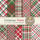 Christmas Plaids Digital Papers