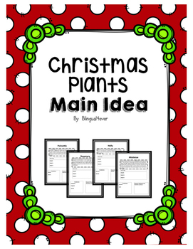 Christmas Plants and Main Idea
