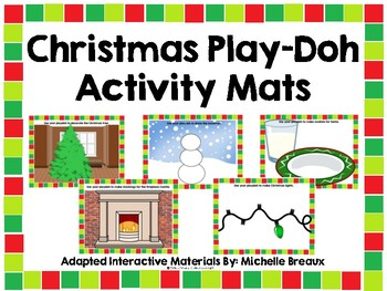 Christmas Play-Doh Activity Mats--Set of 10