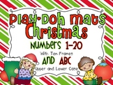 Christmas Play Doh Mats (Numbers 1-20 with 10 frames and ABC)