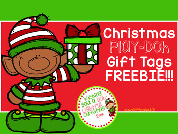Christmas Play.Christmas Play Doh Tags Freebie