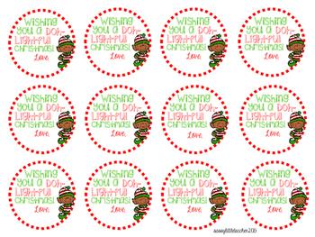 Christmas Play-Doh Tags FREEBIE!!!