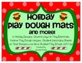 Christmas Play Doh/Dough Mats, Recipes & More! 8 Holiday Mats PreK-K Fun!