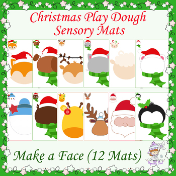 Christmas Play Dough Mats