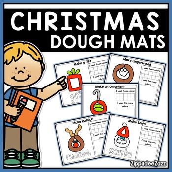 Christmas Play Dough Mats Activities