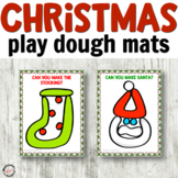 Christmas Play Dough Mats for Fine Motor Centers